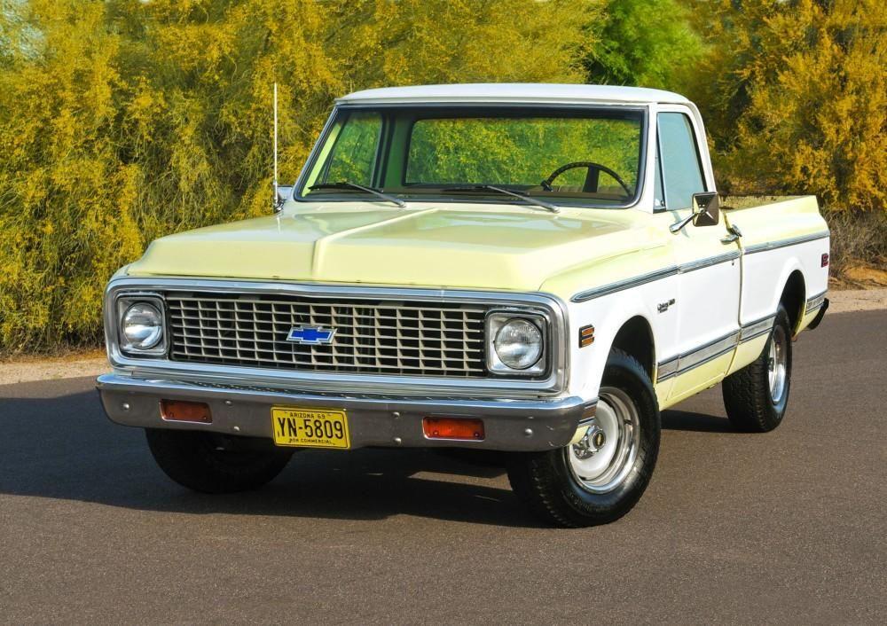 Mello Yellow 1972 Chevrolet C10 Flee Chevy Trucks Classic