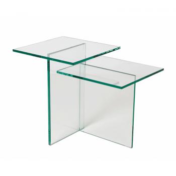 Glazen Bijzettafels Design.Glazen Bijzettafel Design Adele 2 Merk Helderr
