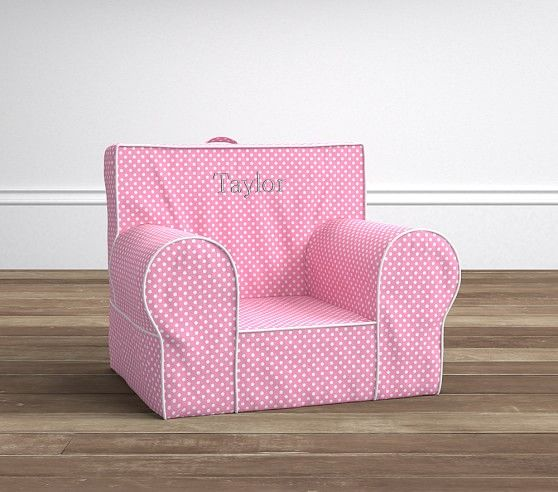 Pink Mini Dot Anywhere Chair® | Pottery Barn Kids