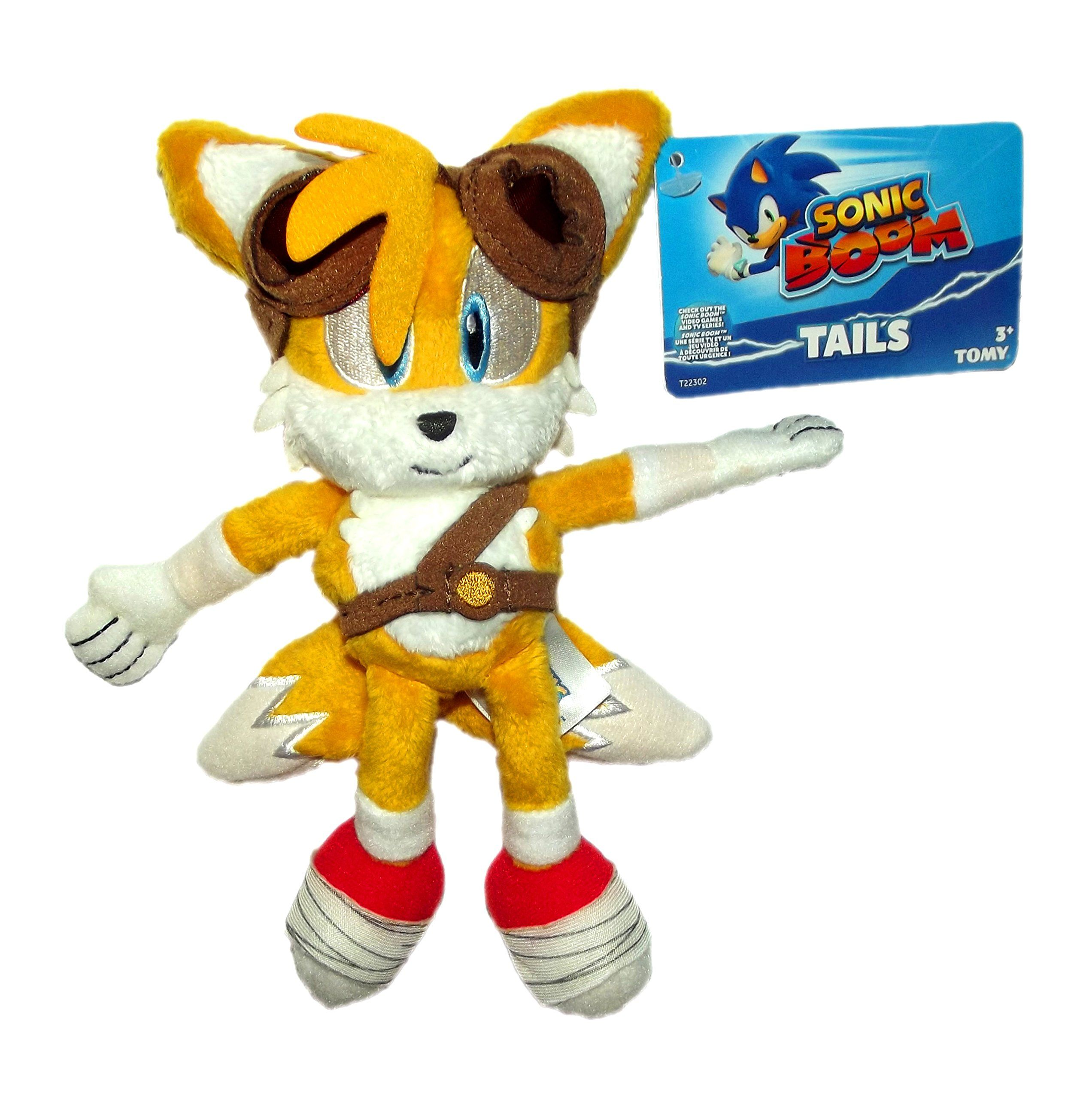 TOMY Sonic the Hedgehog Sonic Boom Tails 8 inch Plush with Goggles ...