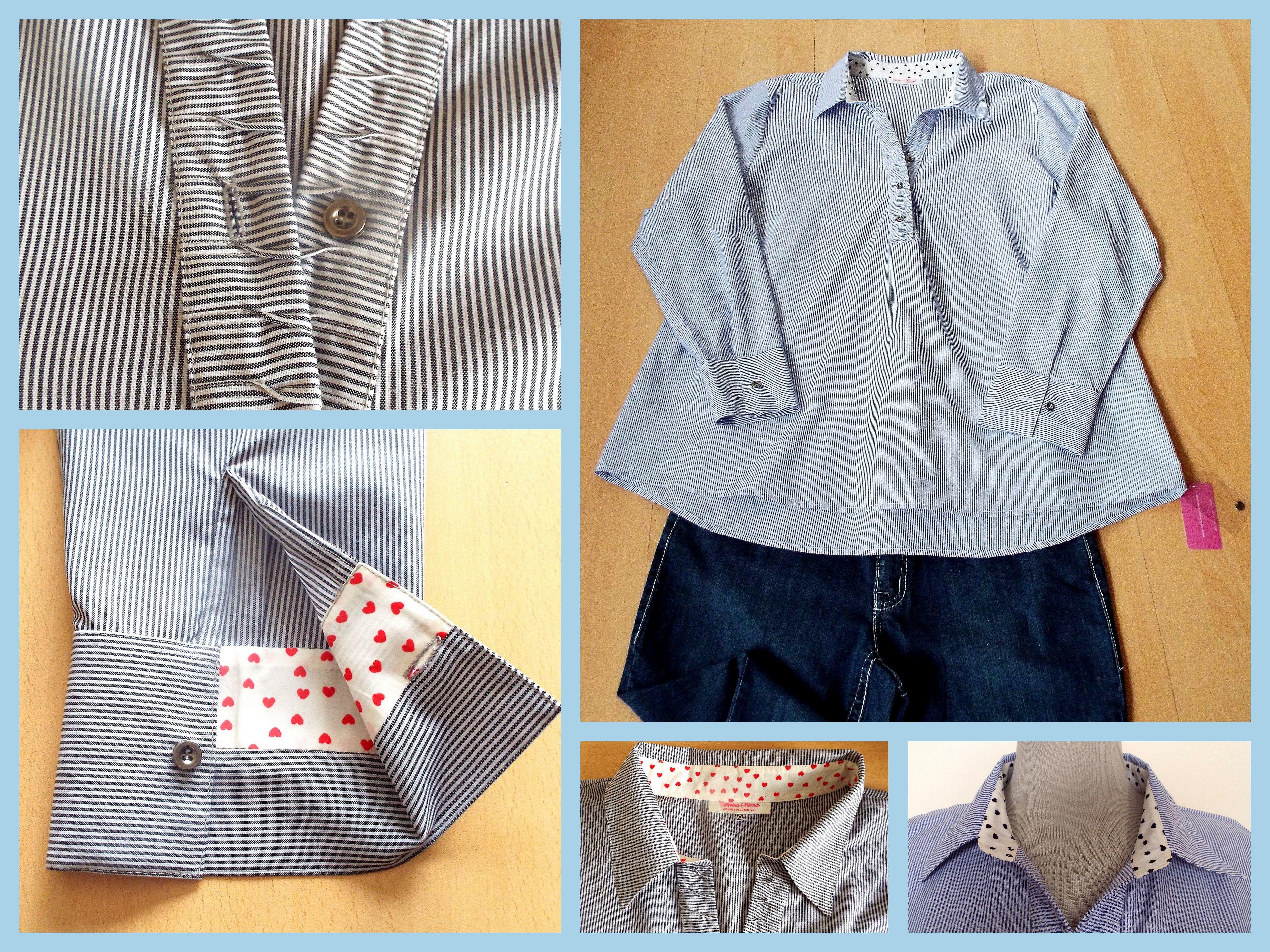Blusa corte tunica en tela oxford