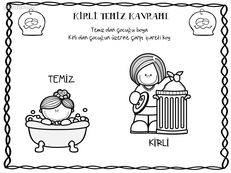 Kirli Temiz Kavramı Etkinlikasigi Working Pages Education
