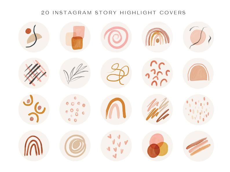 Instagram story highlight icons boho instagram abstract