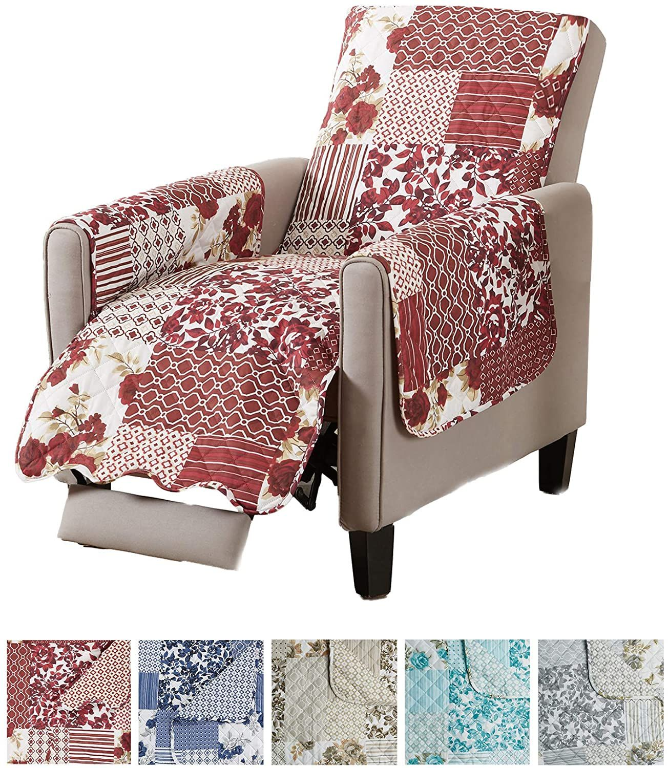 Great Bay Home Patchwork Scalloped Printed Furniture