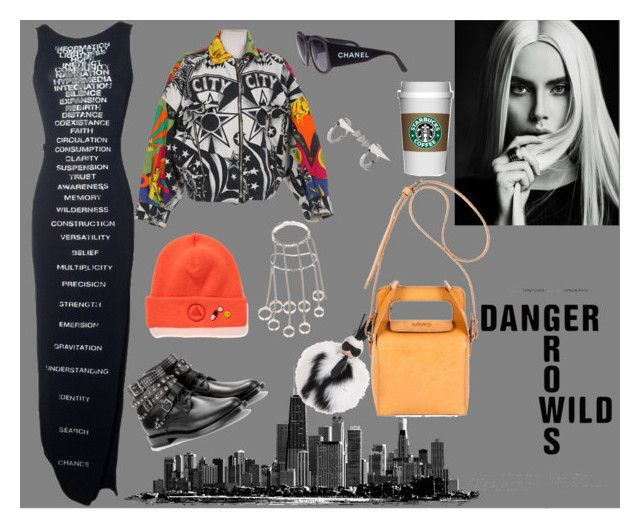 """""""Untitled #175"""" by raphaelaelena on Polyvore featuring Moschino, Yves Saint Laurent, Versace, Chanel, Luis Morais, Fendi and MM6 Maison Margiela"""