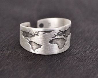 Travel ring world map ring gift for women wanderlust send travel ring world map ring gift for women wanderlust send off gift dainty ring graduation gift globe ring map ring simple gumiabroncs Gallery