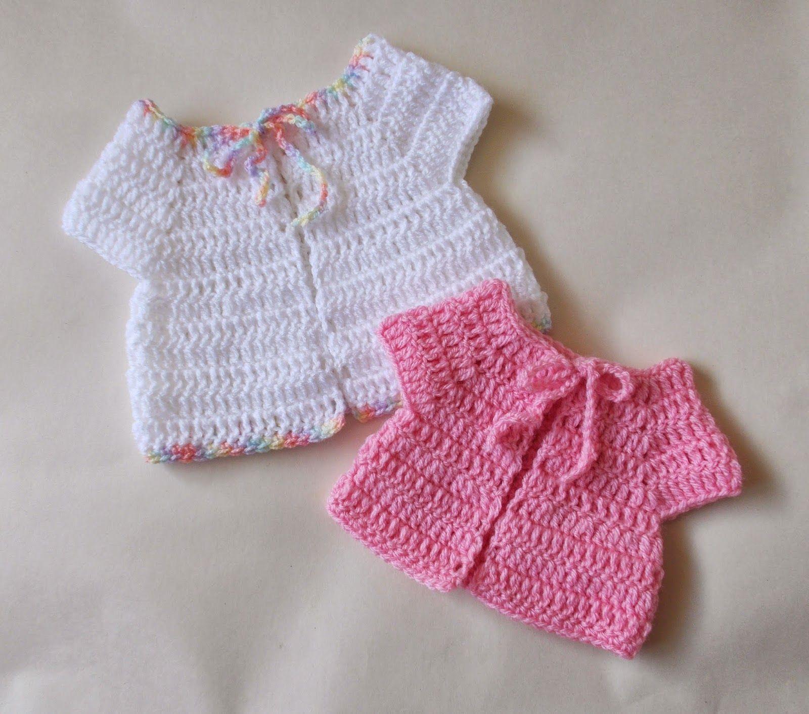 marianna\'s lazy daisy days: Premature Baby Crochet Baby Jacket ...