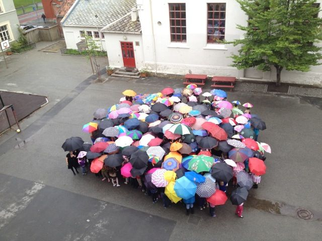 Happy Dot Day! At Birralee International School Trondheim, Norway we celebrated by making a giant human umbrella-dot, great fun! :-)