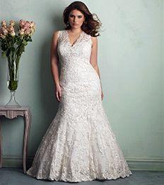 Allure Bridals plus size wedding dresses