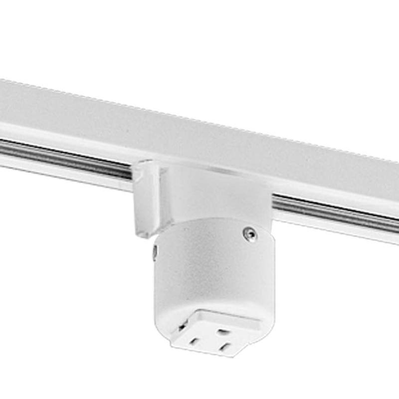 Progress lighting p8751 alpha trak grounded convenience outlet progress lighting p8751 alpha trak grounded convenience outlet adapter white indoor lighting track lighting accessories mozeypictures Image collections