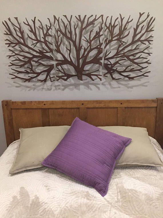 3 Pieces Wall Decor For Living Room: Metal Wall Art Decor 3D Sculpture 3 Piece Tree Brunch