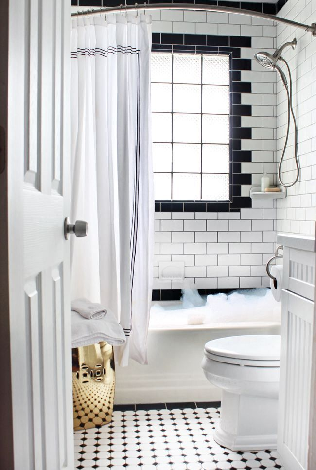 Favorite Things Friday Black White Bathrooms Bathroom Design