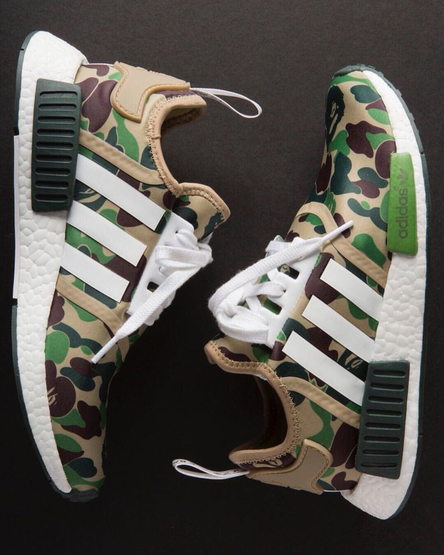 16122e28 Official Bape x Adidas NMDs | SneakerHEAD in 2019 | Shoes, Adidas ...