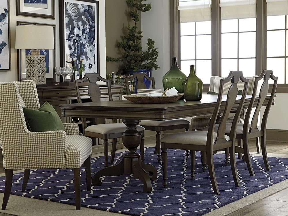Provence Double Pedestal Dining Table Formal Dining Room Table Bassett Furniture Dining Furniture Dining Room Table
