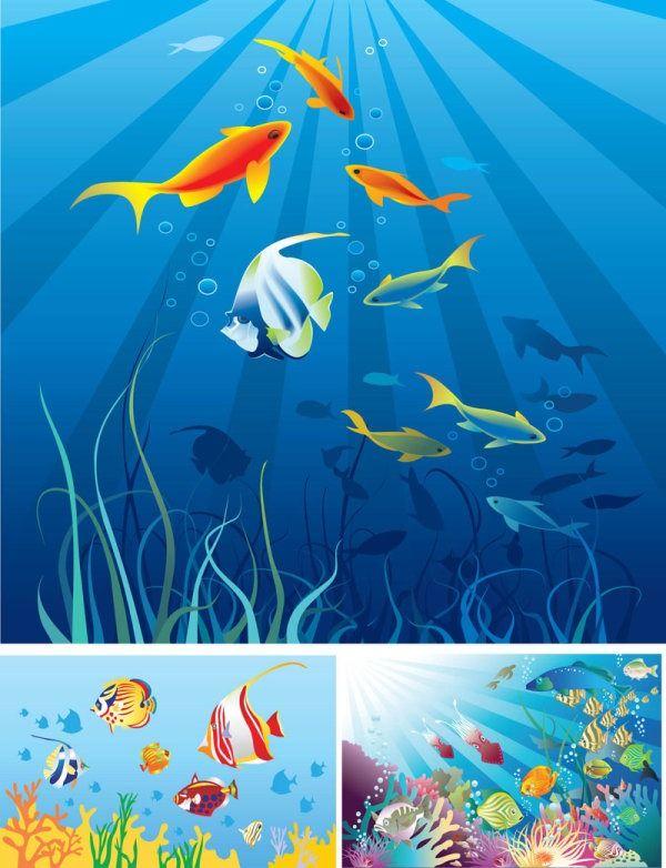 cartoon ocean scene vector material cartoon background rh pinterest com cartoon ocean scenery Cartoon Winter Scenes