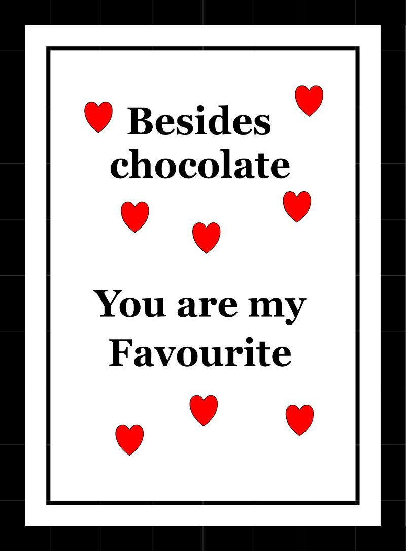 Besides chocolate typographical wall art quote poster typographic