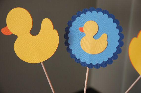 Rubber Duck Centerpiece, Rubber Duck Baby Shower, Boy Baby Shower, Duck  Theme, Rubber Duck Theme, 9 Pcs