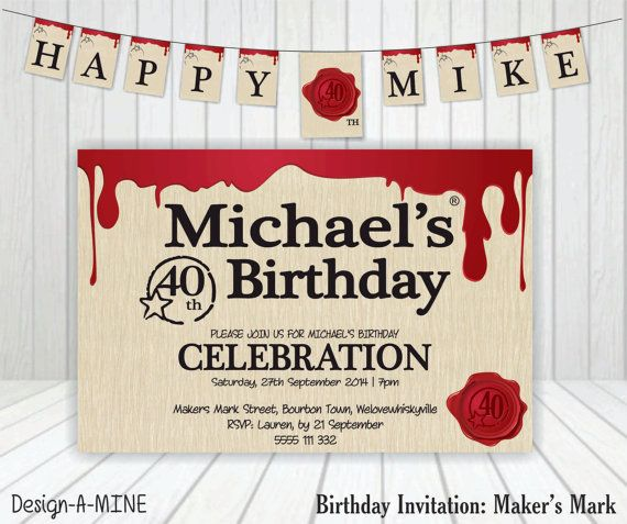 Makers mark invitation makers mark party ideas pinterest 40 makers mark invitation stopboris Gallery
