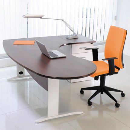 Bureau professionnel angle droite 200x110x72 cm coloris blanc et