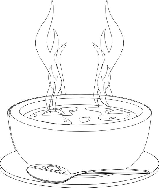 A Bowl Of Soup That Warms Coloring Pages Food Coloring Pages Coloring Pages Coloring Pages For Kids