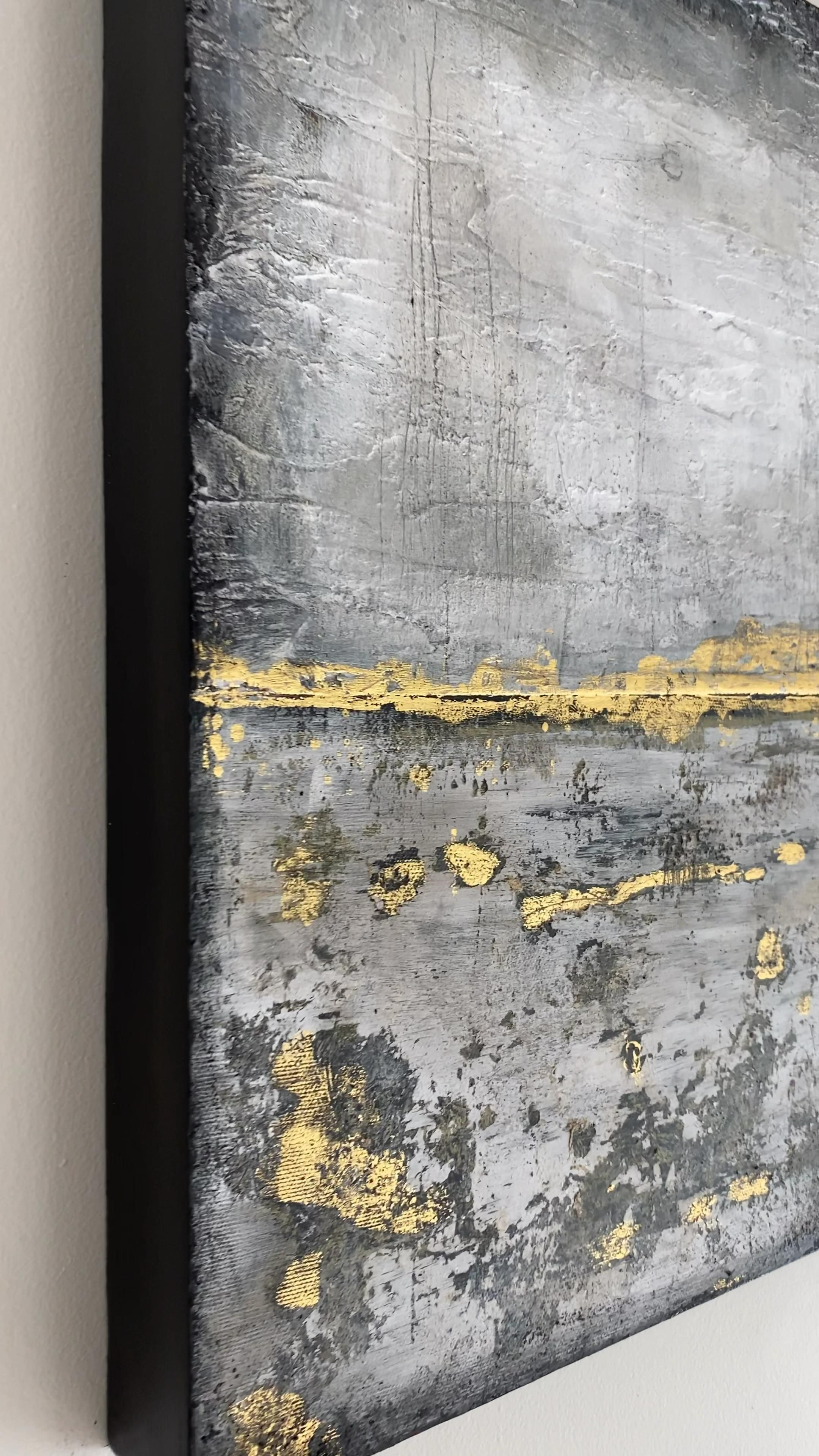 Gold and Grey Texture Panel