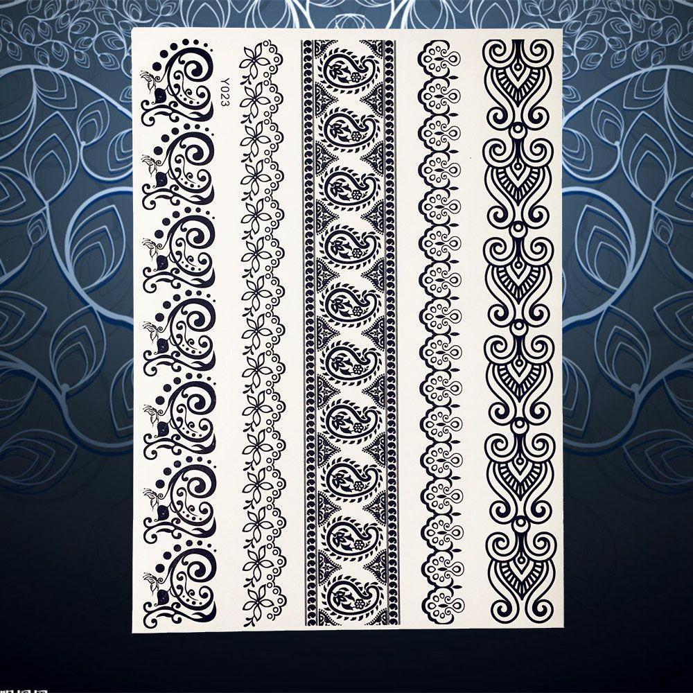 Large body art painting tattoo stickers fake flash henna tattoo