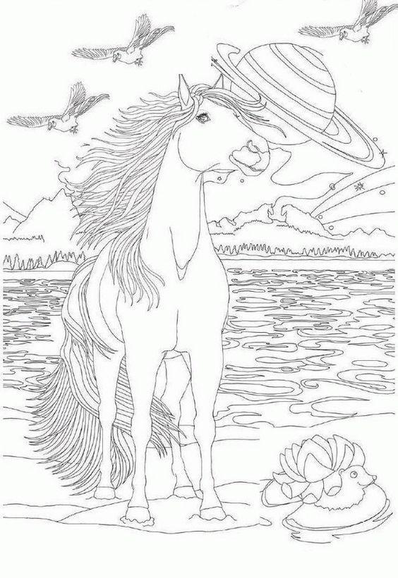 Pin de Wanda Twellman en Coloring Horses   Pinterest