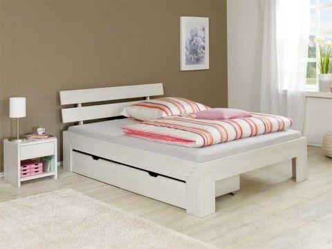 Łóżko z drewna dębowego Cleo IV 180 - komplett schlafzimmer günstig