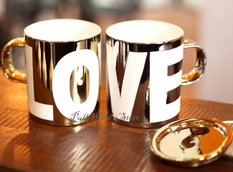 Royal Classic Love Ceramic Cup Personalized Mug 420ml Gold silver high-end…