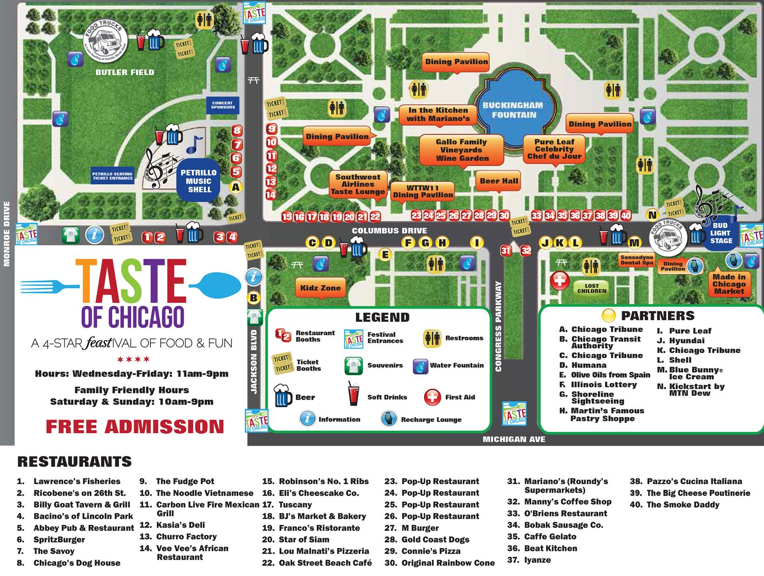 Taste Of Chicago Map I NEED TO GOOOOO Chicago Fun Pinterest - Chicago map attractions