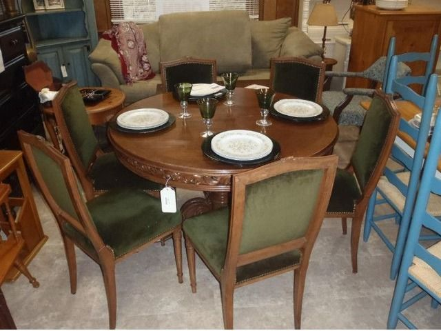 Ornate Dining Table And 6 Chairs