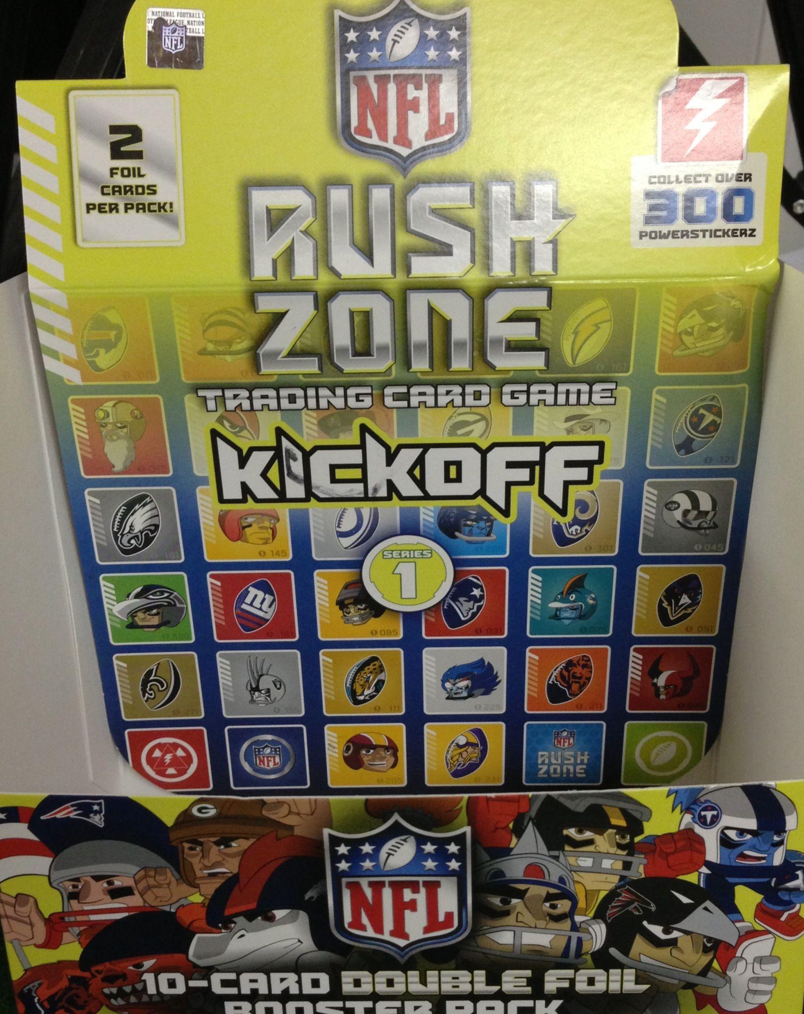 NFL RUSH ZONE Trading Card Game NFL rushzone tcg