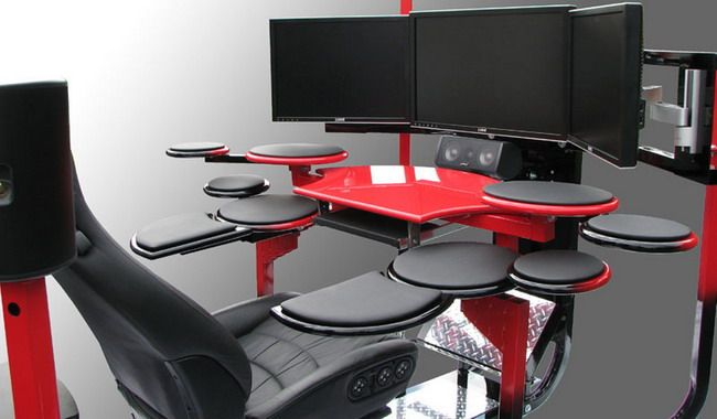 Ergonomic Computer Desk Workplace Different Working