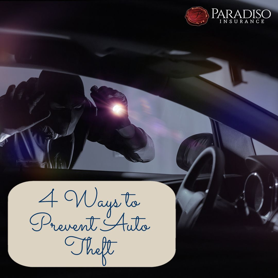 4 Ways To Prevent Auto Theft Paradiso Insurance In 2020