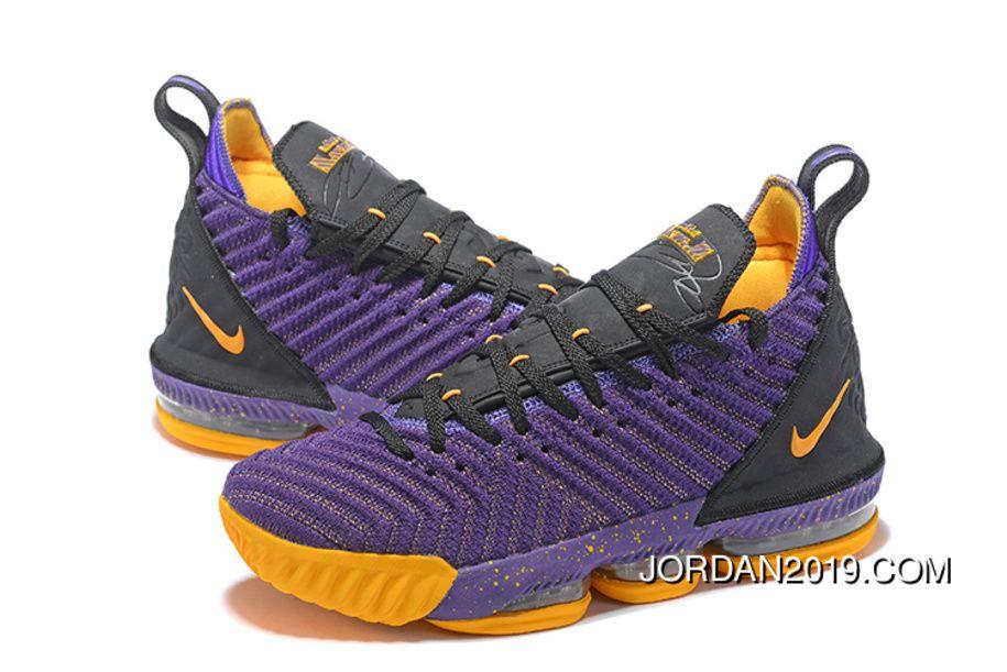 2018 New Nike Lebron 16 Purple/Black