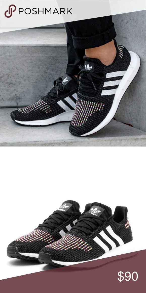 0d19764aa4e4c ADIDAS Originals Swift Run Sneakers NIB! In Black Combo The perfect blend  of fashion and