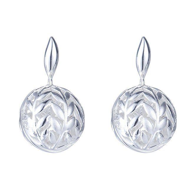 SILVERAGE 925 Sterling Silver Hollow Filigree Ball Drop Earring Round Dangle Earrings For Women HRx4GDUZhm
