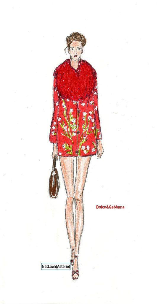 fashion illustration dolce&gabbana