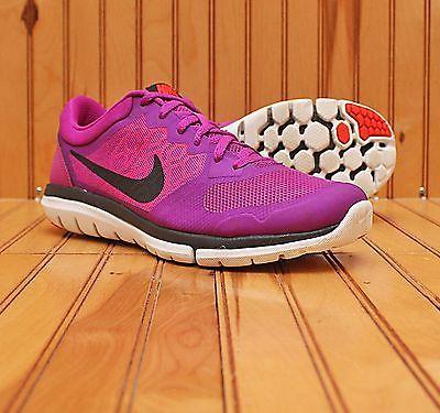 5ef2bbe74a 2015 Nike Flex Run Size 9 - Purple Black Bright Crimson Violet - 709021 501