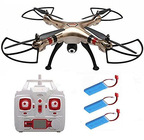 Syma X8hc With 2 Pcs Extra Batteries 2mp Hd Camera 4ch 6axis Fixed