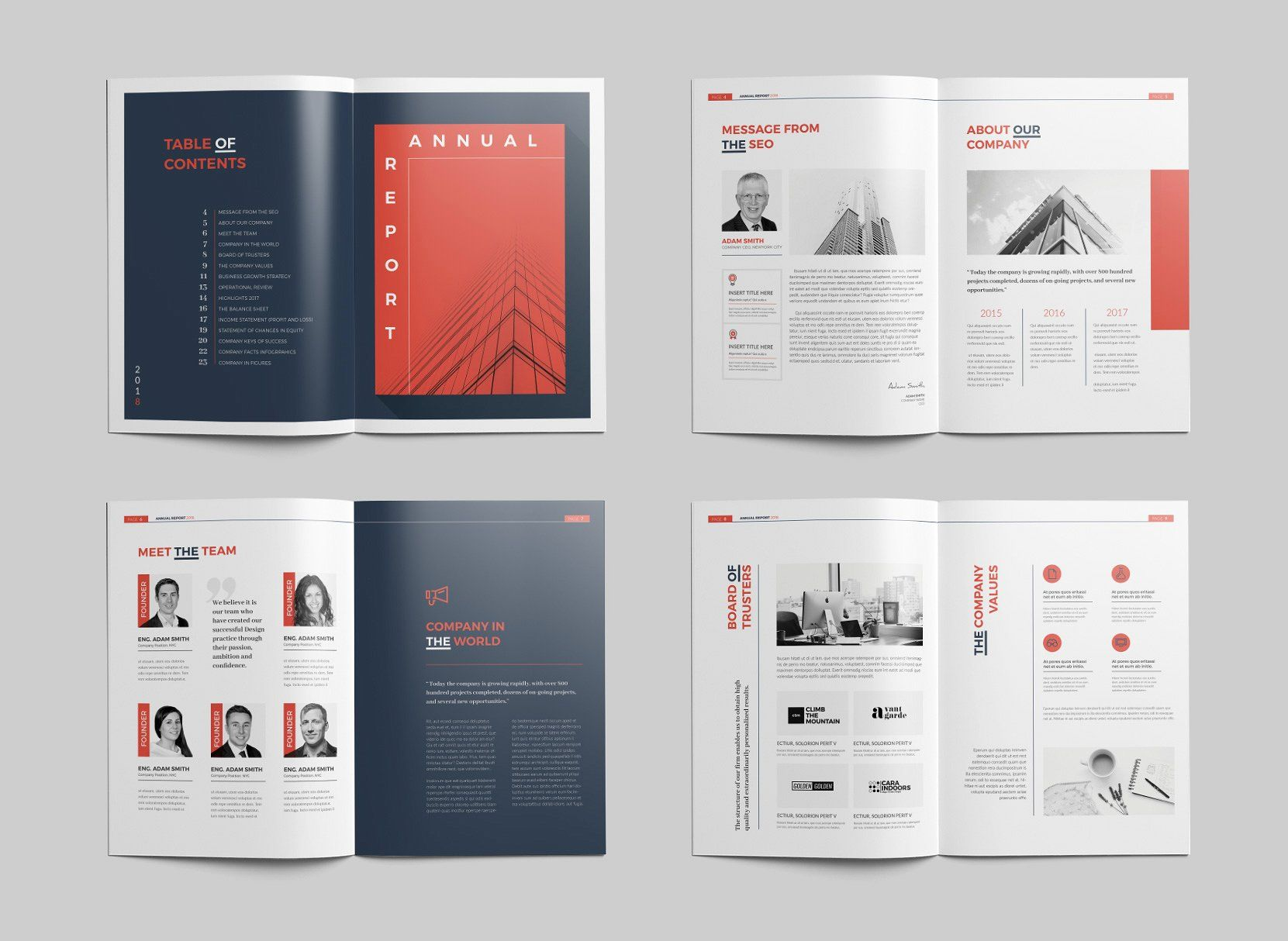 Annual Report 24 Pages Annual Report Brochure Design Template