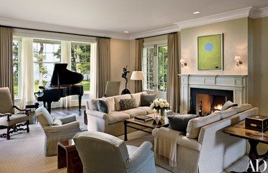 Robert A M Stern Crafts A Georgian Revival Style Home In Lake Michigan Grand Piano Living Room Piano Living Rooms Living Room Furniture Arrangement