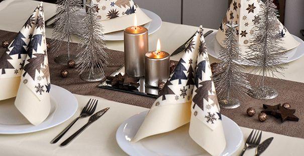 Weihnachten Champagne Braun Tischdeko Weihnachten