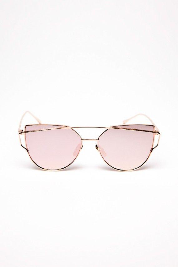 lunettes double barre rose lunettes de soleil glasses. Black Bedroom Furniture Sets. Home Design Ideas