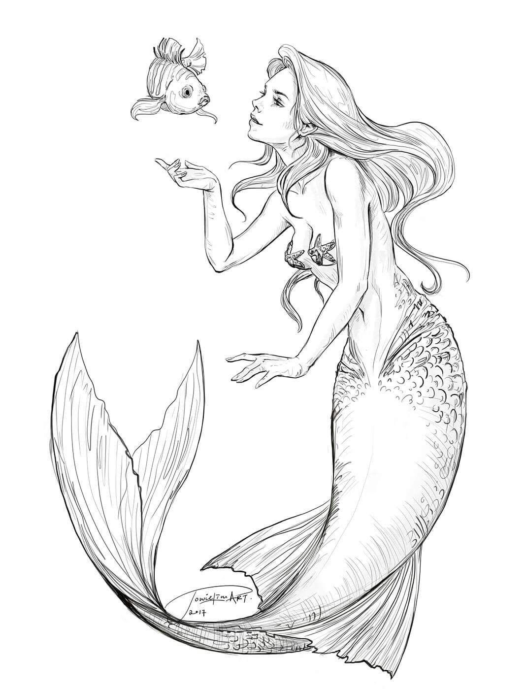 Pin de Marie Hart en Mermaid Coloring Sheets | Pinterest | Sirenitas