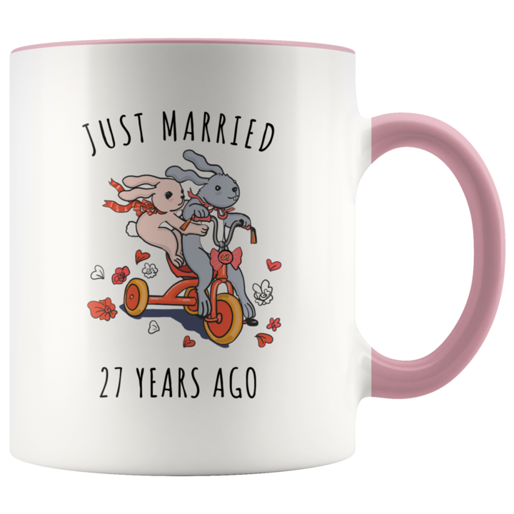 Just Married 27 Years Ago 27th Wedding Anniversary Gift