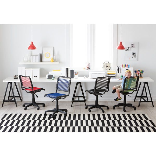 Attractive Berry Pink Bungee Office Chair | The Container Store
