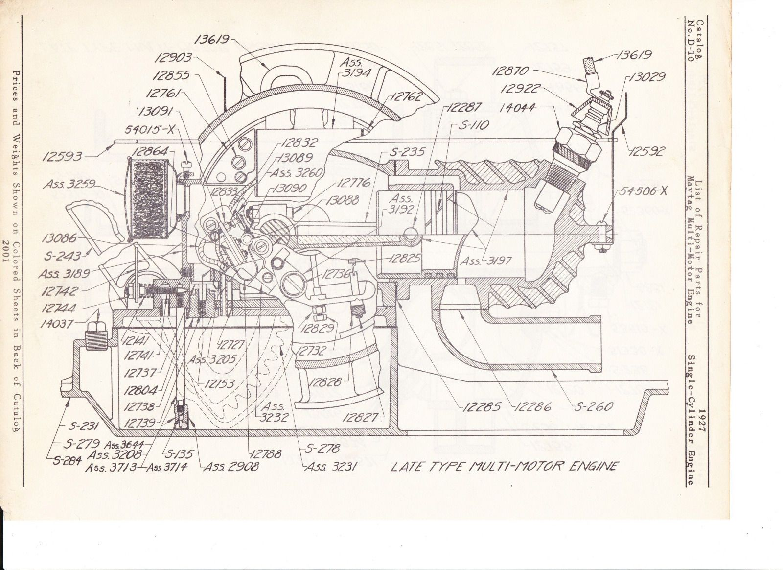 maytag gas motor diagram of 1927 model 92 hit miss | ebay