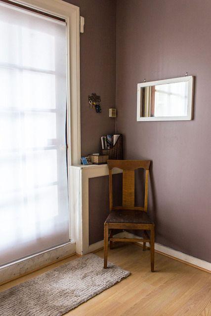 Wandfarbe Braun Violett Zu Eichenholz