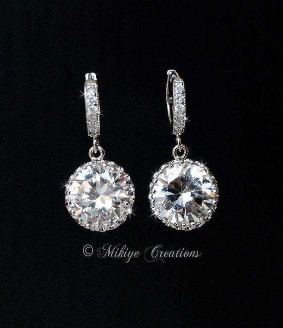 Bridal Chandelier Earrings Wedding Accessories by MikiyeCreations